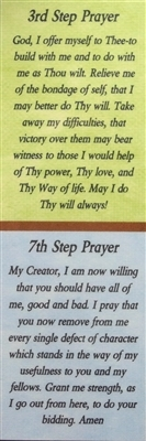 Aa 3rd 7th Step Prayers Aa Bookmark Recovery Shop