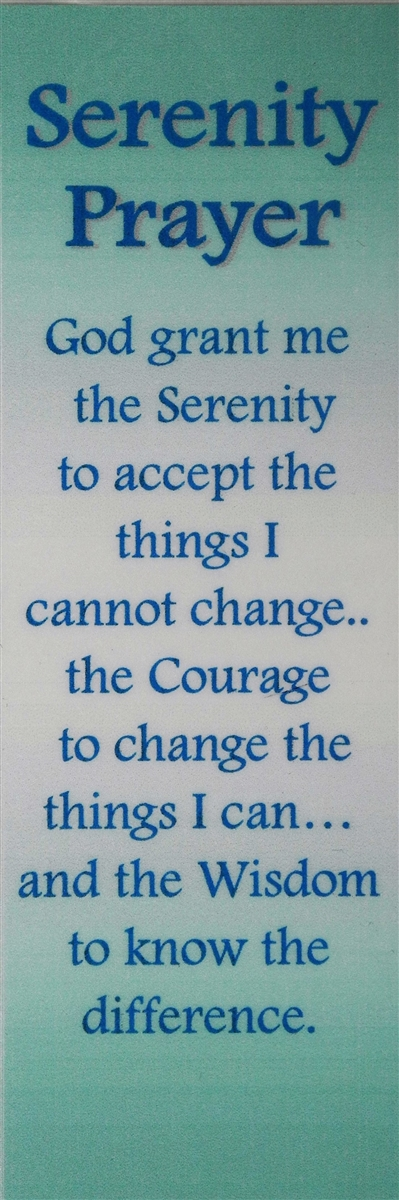 Serenity And St Francis Prayer Bookmark Recovery Shop