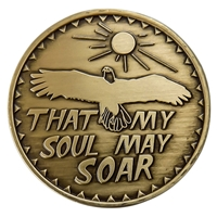 That My Soul May Soar Bronze Inspiration Medallion