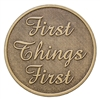 First Things First Bronze Inspiration Medallion