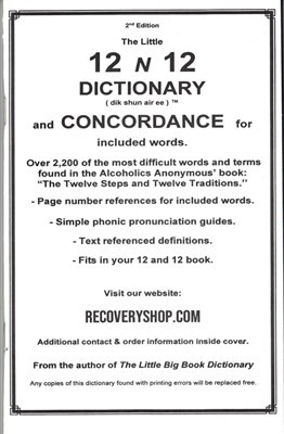 12 N 12 DICTIONARY