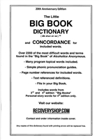 AA Large Print Big Book DICTIONARY