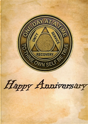 Aa Happy Anniversary Recovery Greeting Card