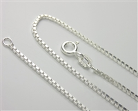 Sterling Silver Medium Box Chain