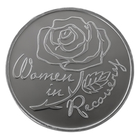 Women In Recovery Aluminum coin