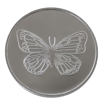 Aluminum Butterfly Coin with Serenity Prayer