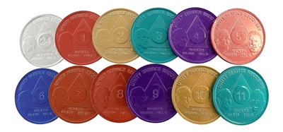 AA Aluminum Founders Anniversary Coins