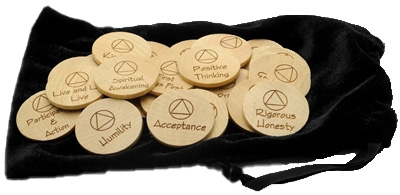 AA Meeting Topic Wooden Chips