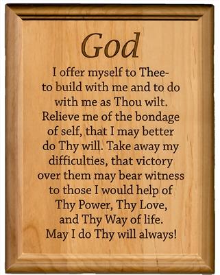 Aa 3rd Step Prayer Plaque