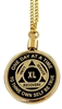 "Holder Screw Top Gold Plated 24"" Necklace Chain Medallion Holder"