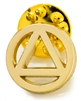 Gold Plated AA Logo Lapel Pin