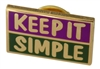 Keep It Simple Lapel Pin