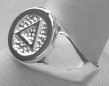AA Logo Sterling Silver Ring