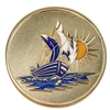 Gold Plated Sailboat Medallion