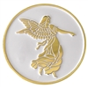 Gold Plated Angel Medallion