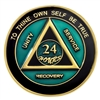 Blue-Green/Black AA Anniversary Medallion