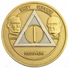 AA Founders Gold/Silver Anniversary Medallion
