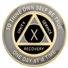 Black Recovery Medallion - 3 years