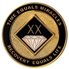 White/Gold Sparkle on Gold Tri-Plate AA Anniversary Coin