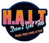 HALT (Don't Get Too Hungry, Angry, Lonely, or Tired) Colorful Sticker