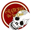 Red Grateful I'm Not Dead Sticker