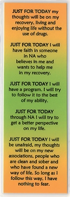 Just For Today - NA Bookmark | Recovery Shop