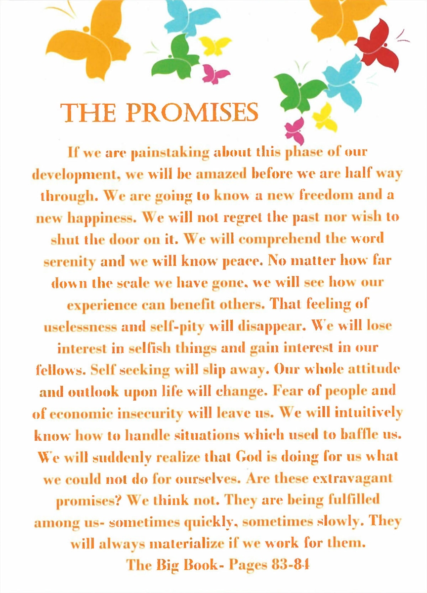 9th Step Promises Recovery Greeting Card Recoveryshop