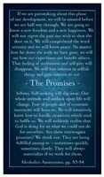 The Promises AA Verse Card